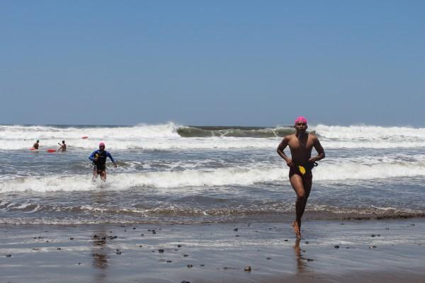 Bayardo during an ISLA lifeguard training course in Nicaragua.