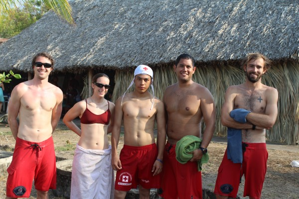 Nick with his ISLA team during Semana Santa in Nicaragua. (Nick pictured far left.)