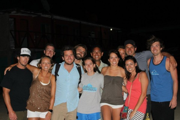 After reuniting with the rest of the ISLA team in Guasacate. (Nick pictured far right.)