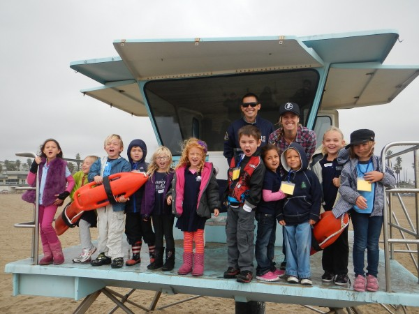 Kindergarten field trip lifesaving