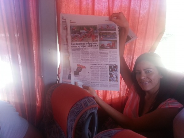 Spotting yet another newspaper write up while traveling through Europe!