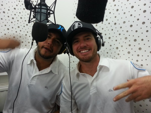 Henry and Olin on radio in Europe.